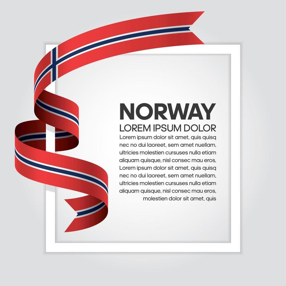 cinta de bandera de onda abstracta de noruega vector