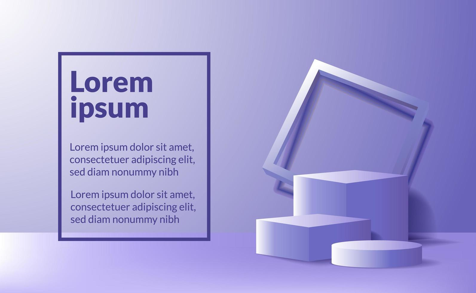 Modern minimalism empty podium stage for product display vector
