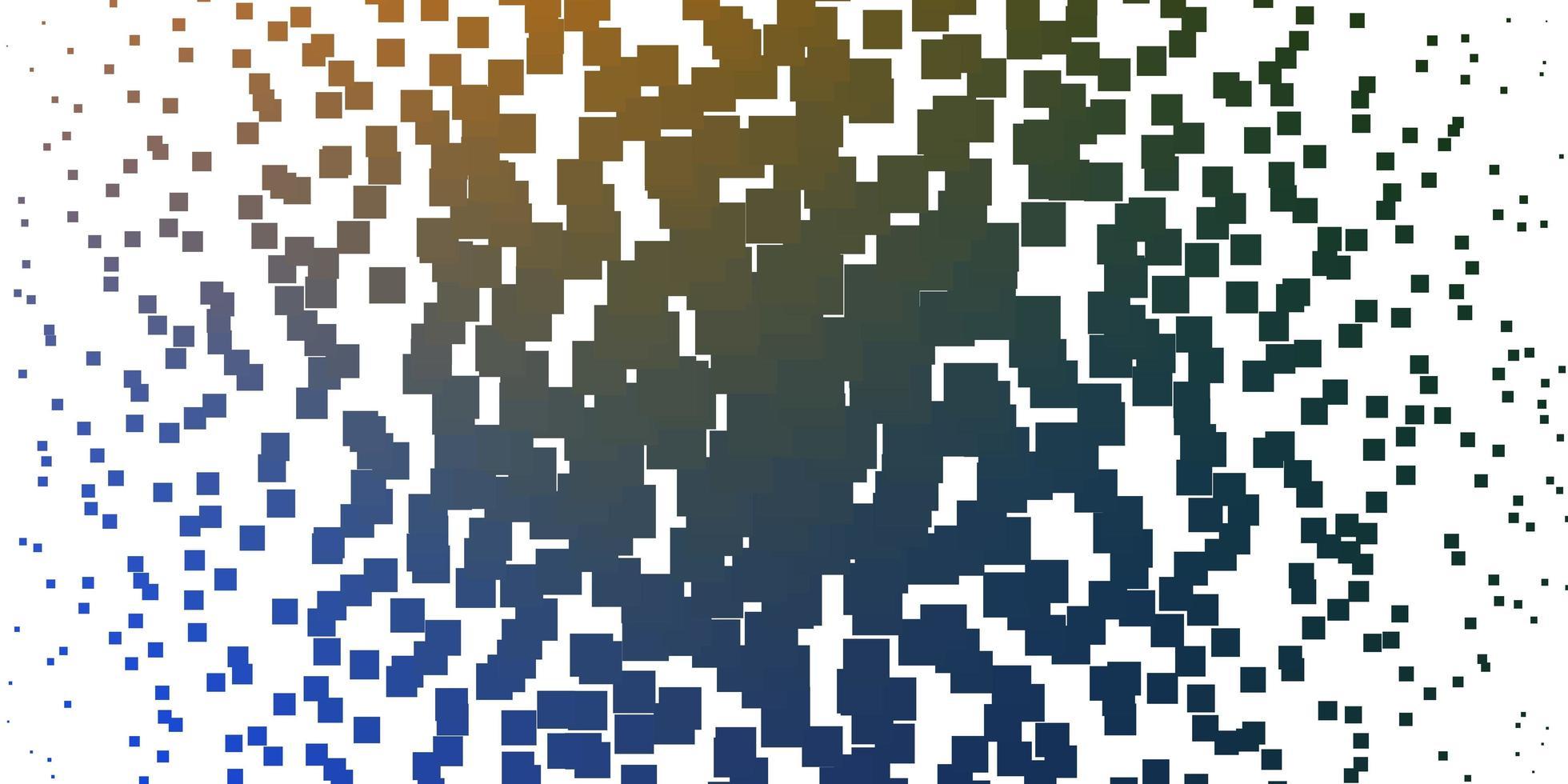 plantilla azul claro, amarillo con rectángulos. vector
