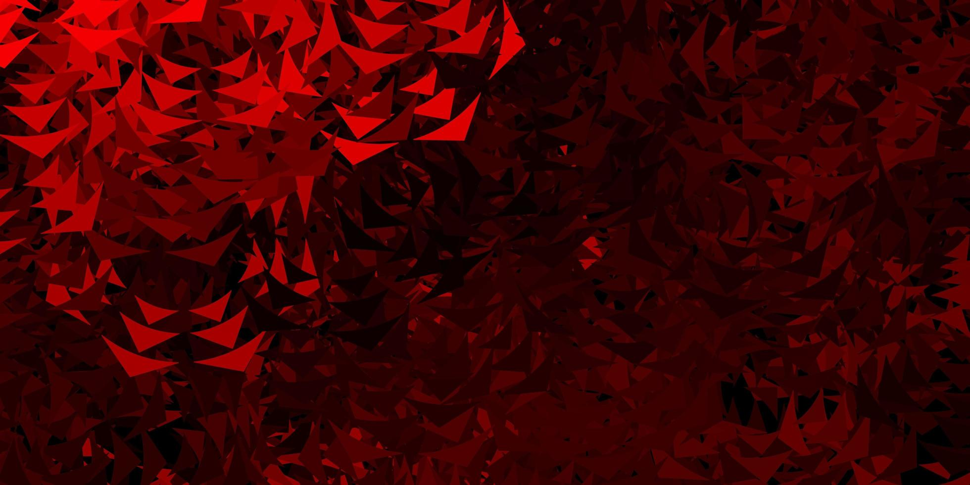 diseño rojo con líneas, triángulos. vector