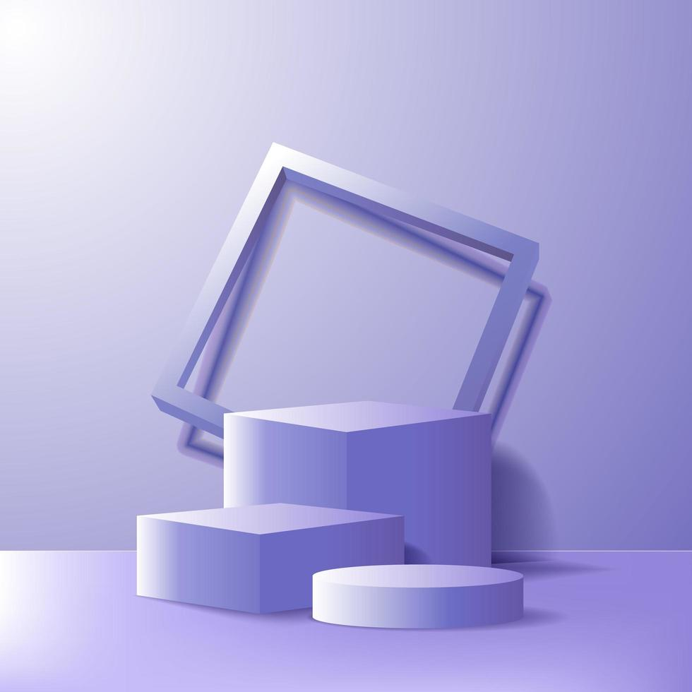 Modern minimalism empty podium stage for products display vector