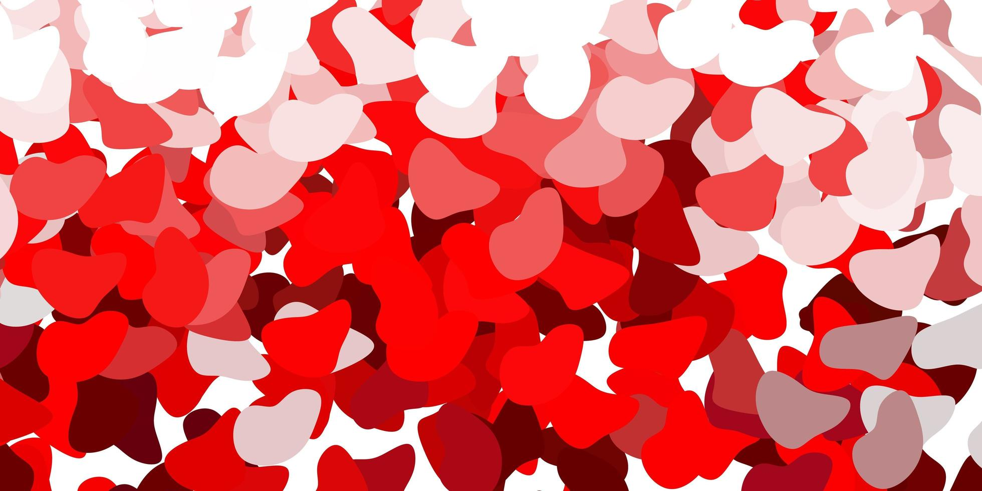 Red backdrop with chaotic shapes. vector