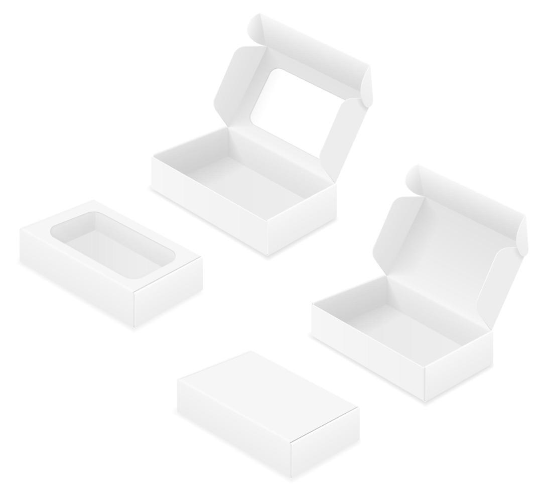 caja de cartón vacía vector