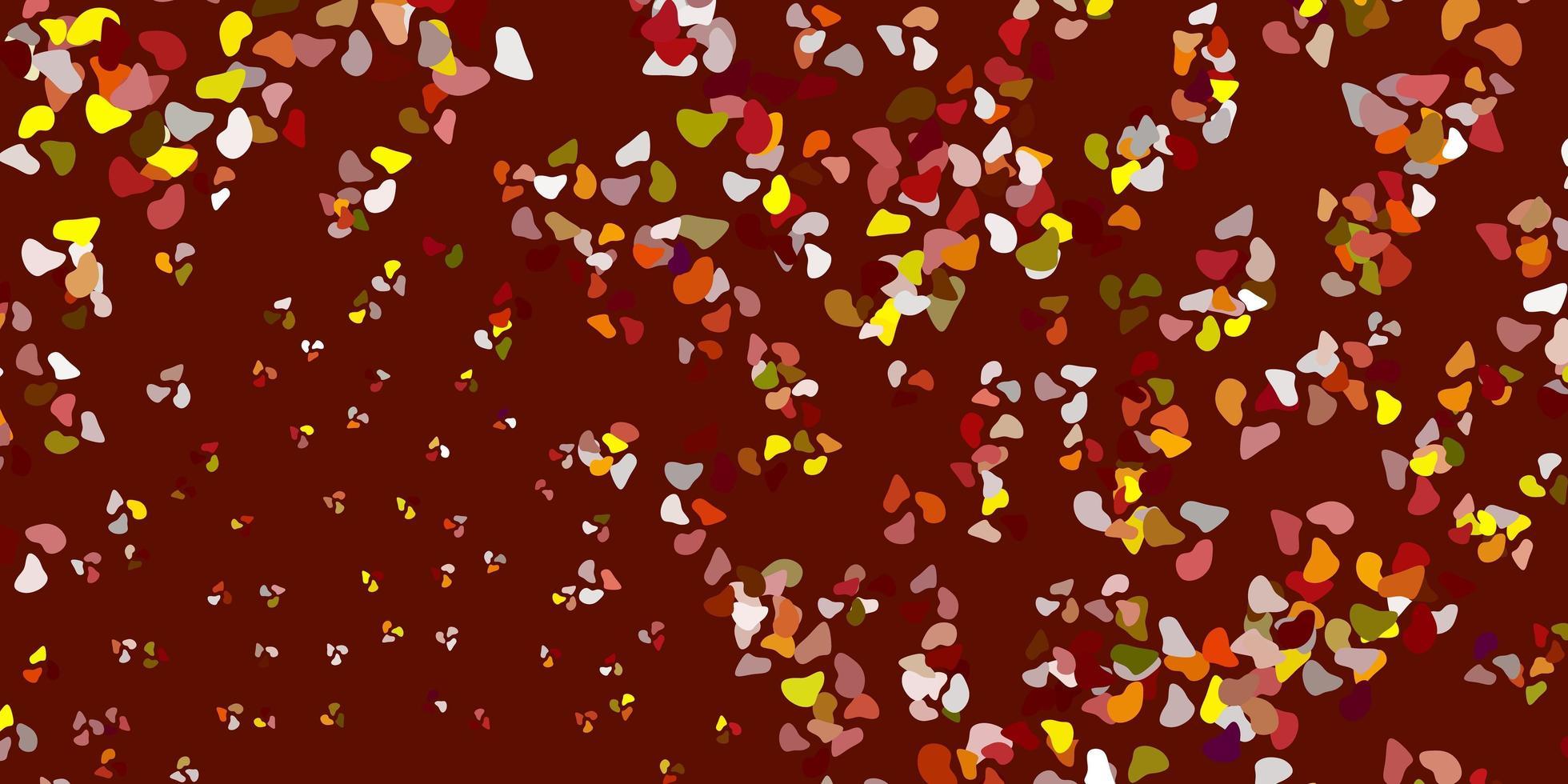 patrón rojo, amarillo con formas abstractas. vector
