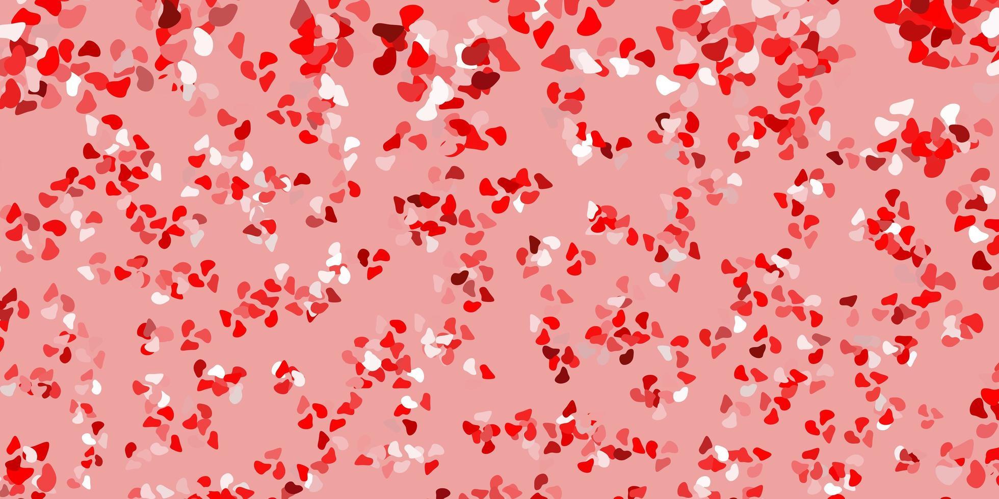 telón de fondo rojo con formas caóticas. vector