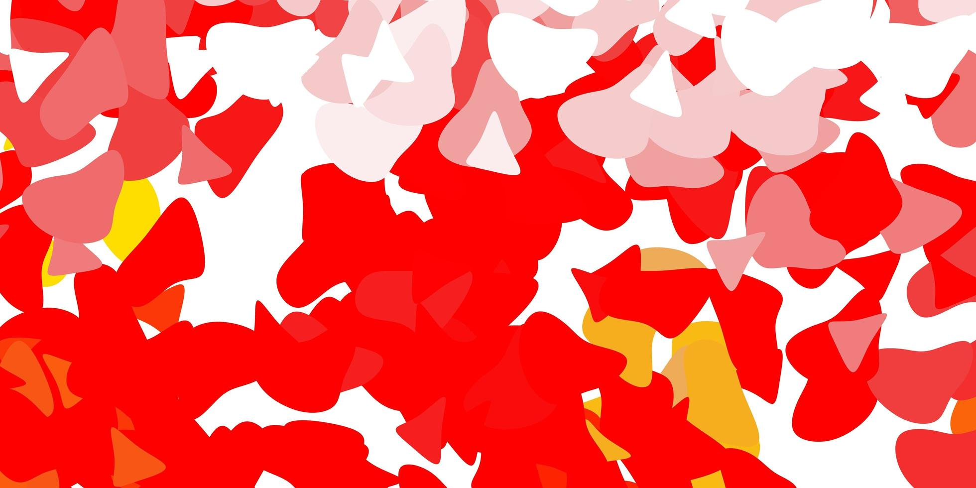 Red template with abstract forms. vector