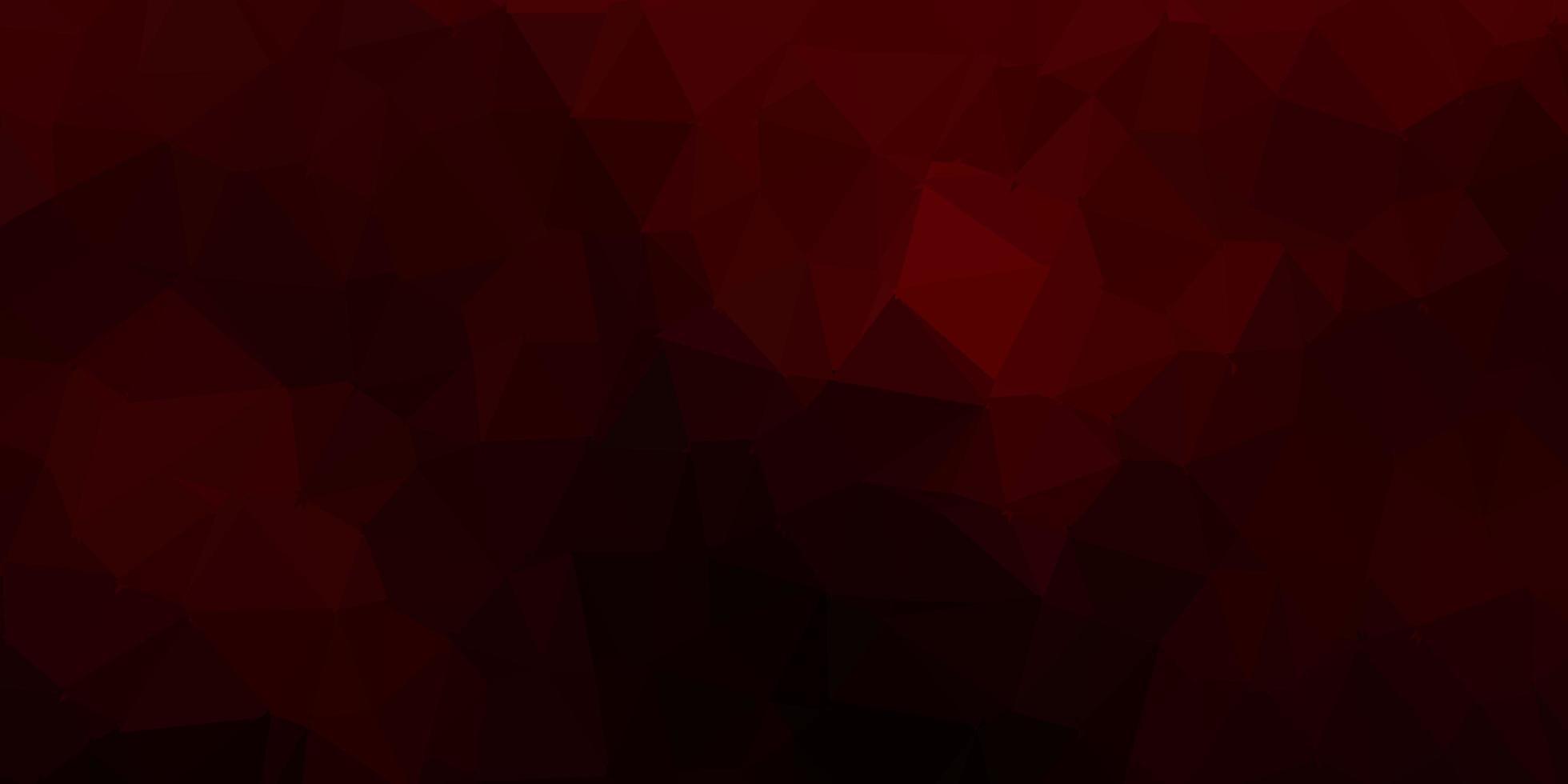 patrón de triángulo abstracto rojo oscuro. vector