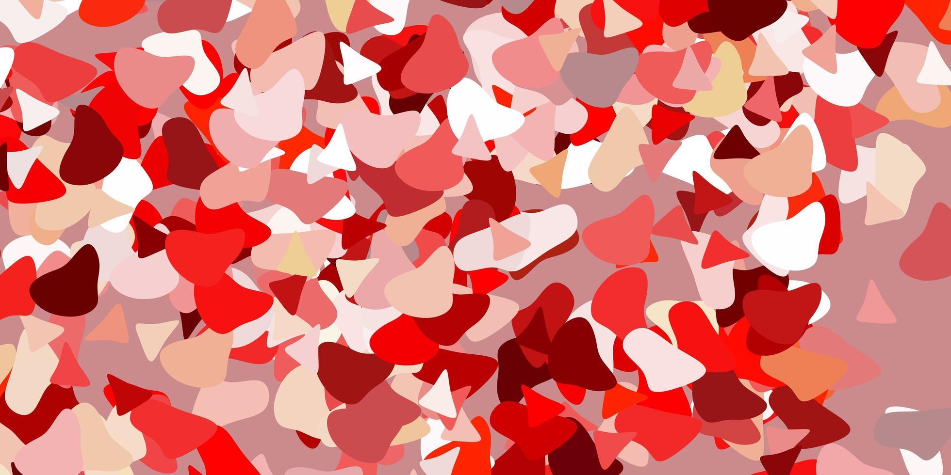 patrón rojo claro, amarillo con formas abstractas. vector