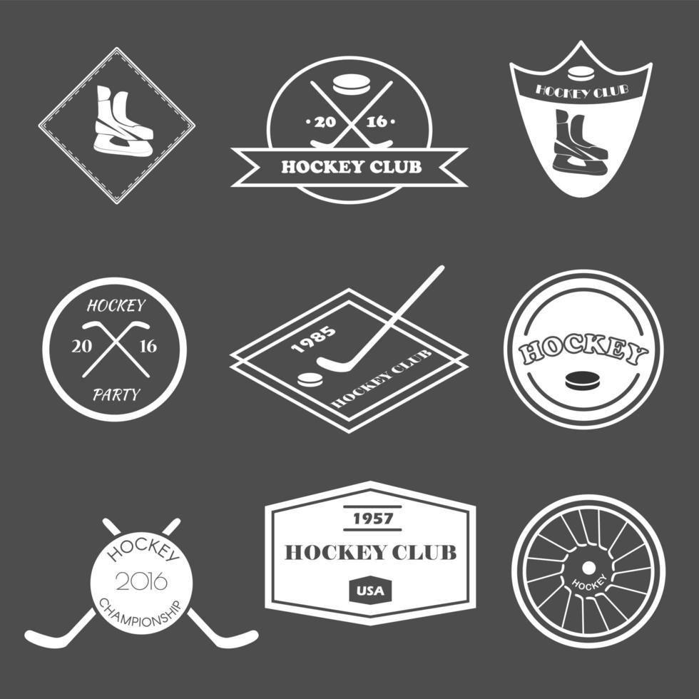 Hockey logo set. vector