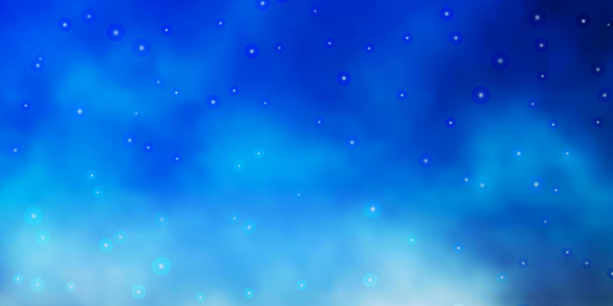 Blue background with colorful stars. vector
