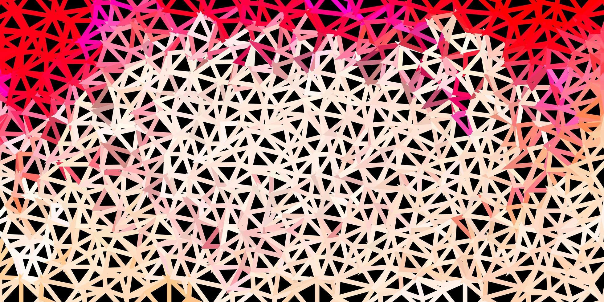 diseño de triángulo de poli rojo claro. vector