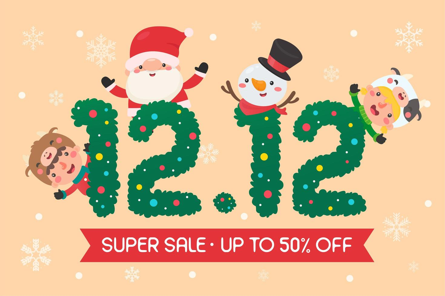 diseño de promoción de venta de navidad 12.12 vector