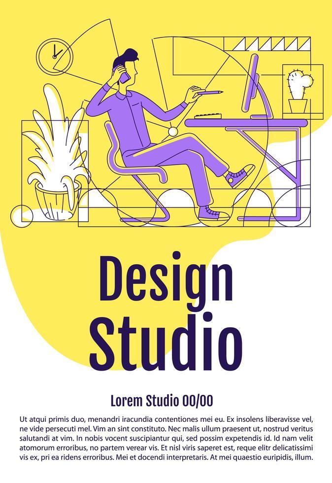 cartel de estudio de diseño vector