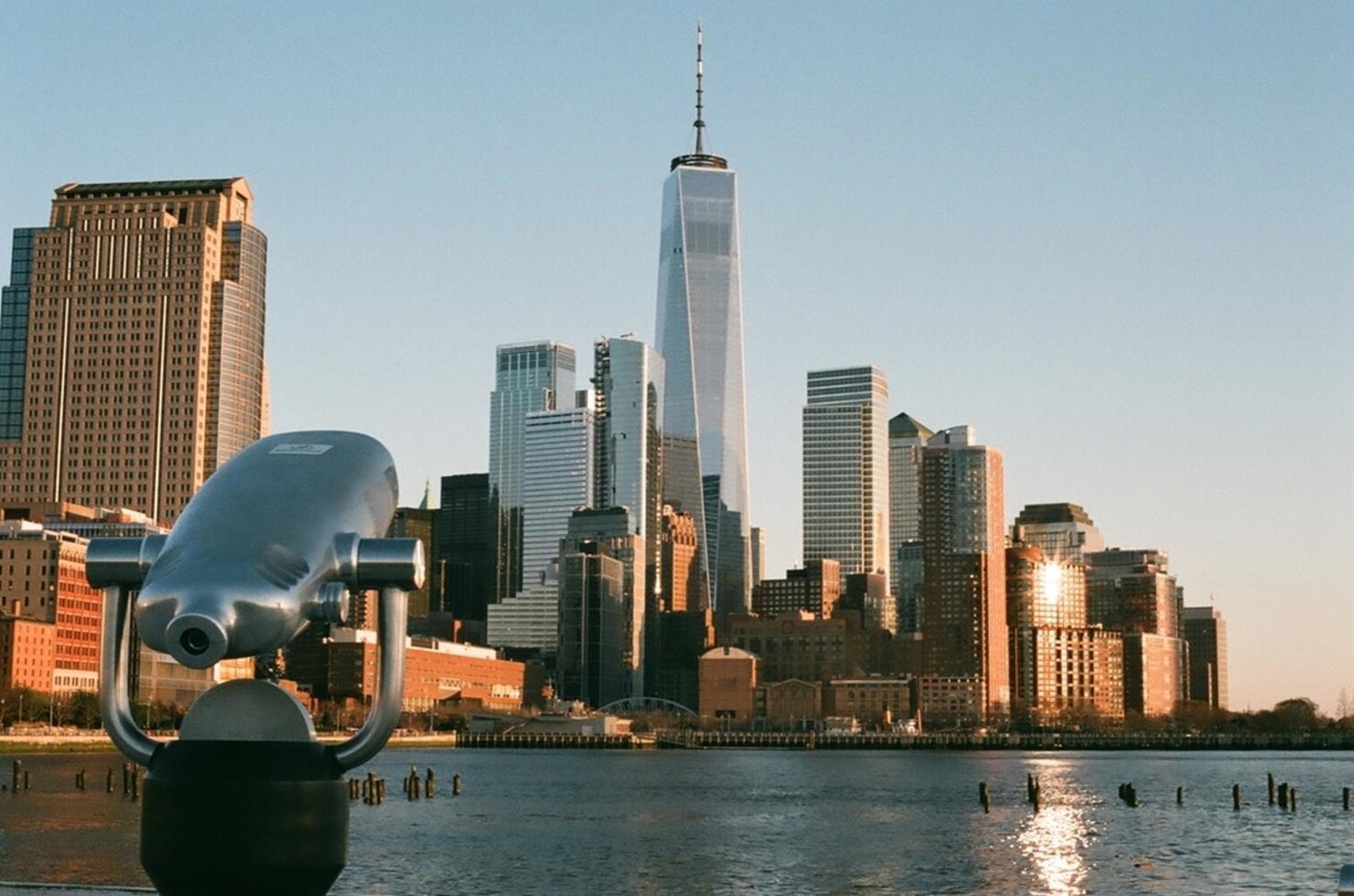 Telescope looking towards the One World Trade Center photo
