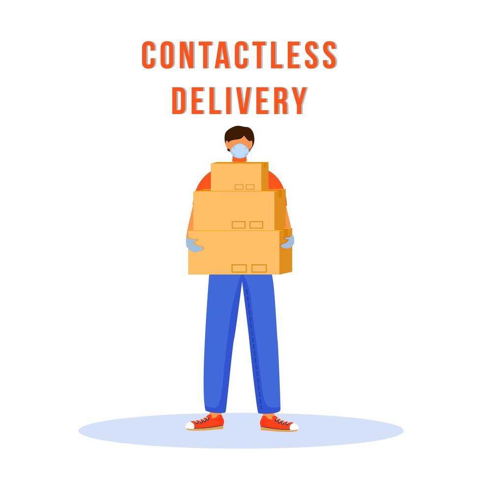 Contactless delivery character vector