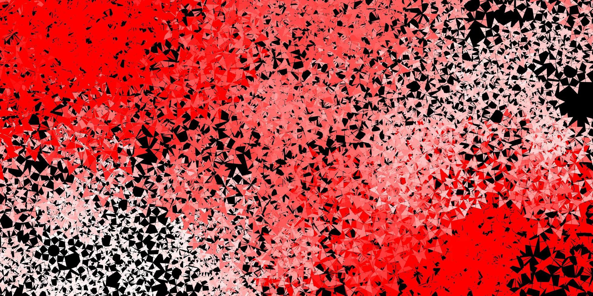 textura roja con estilo triangular. vector