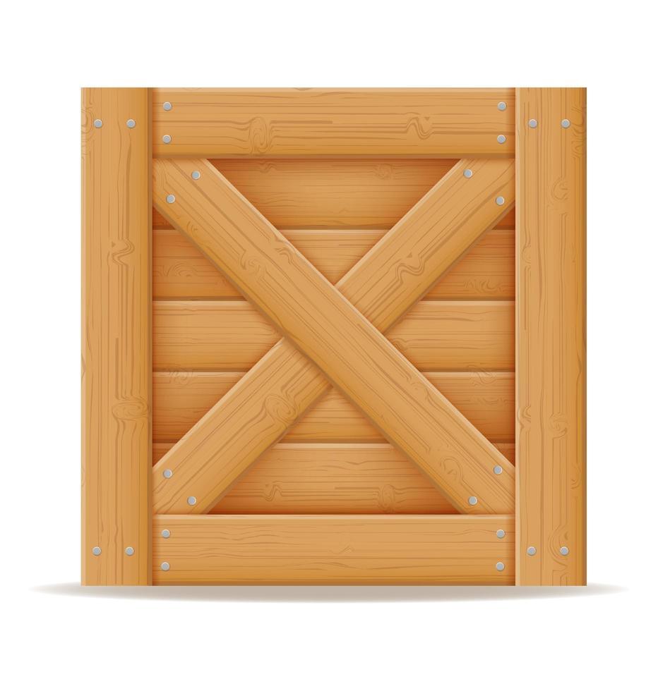 caja de madera para la entrega y transporte de mercancías hechas de madera ilustración vectorial de stock de dibujos animados vector