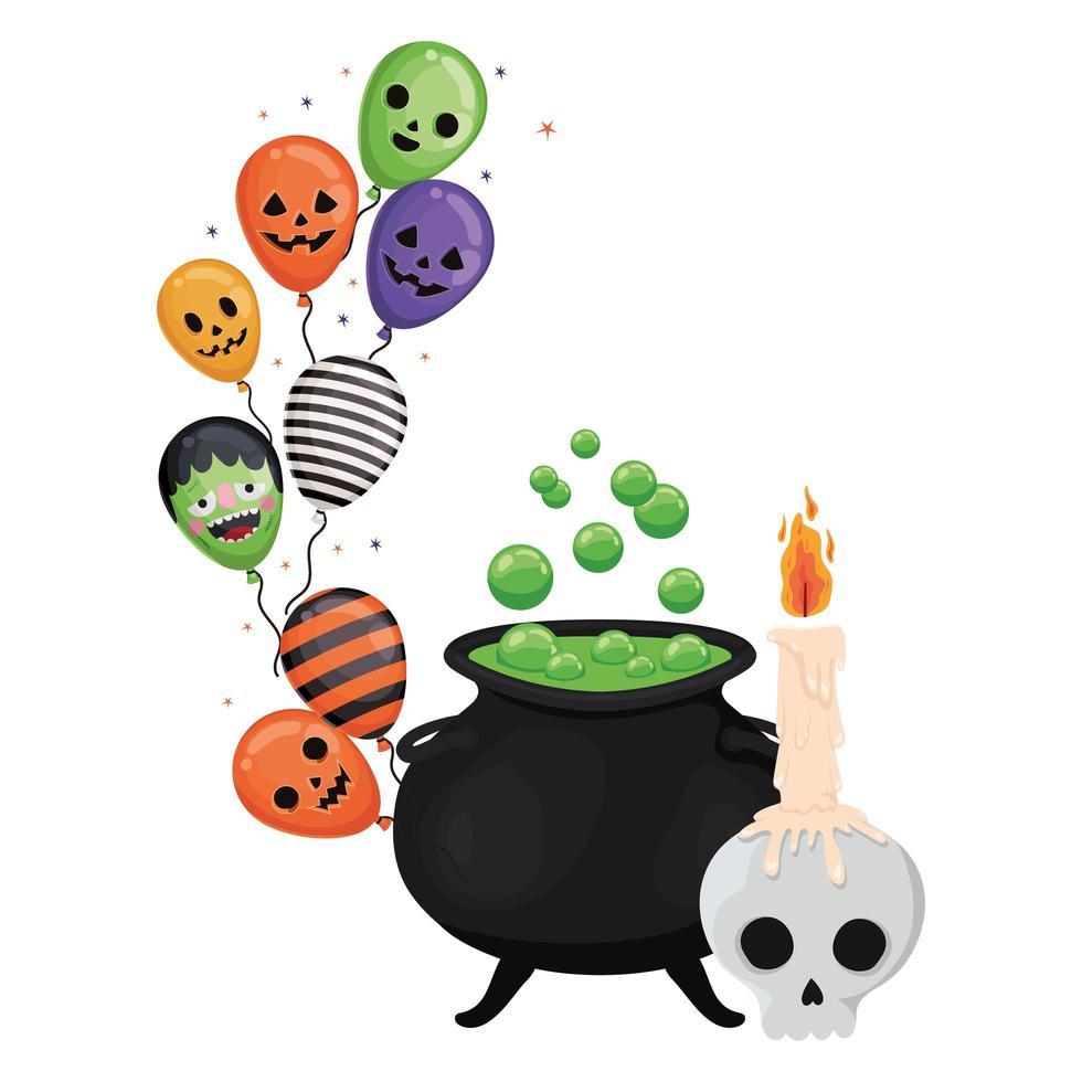 diseño de dibujos animados de calabaza de halloween vector