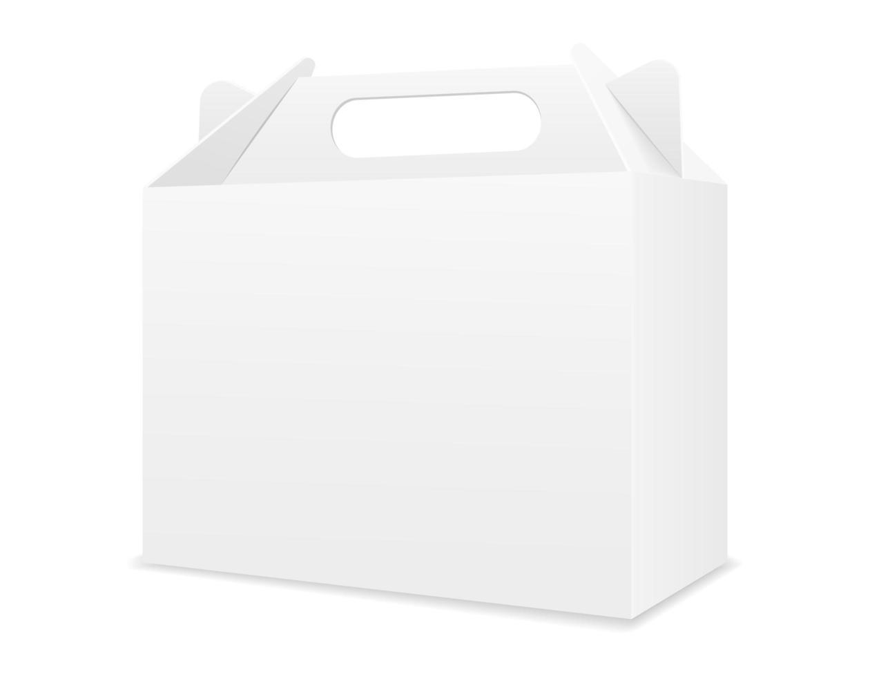 caja de cartón vacía embalaje plantilla en blanco vector