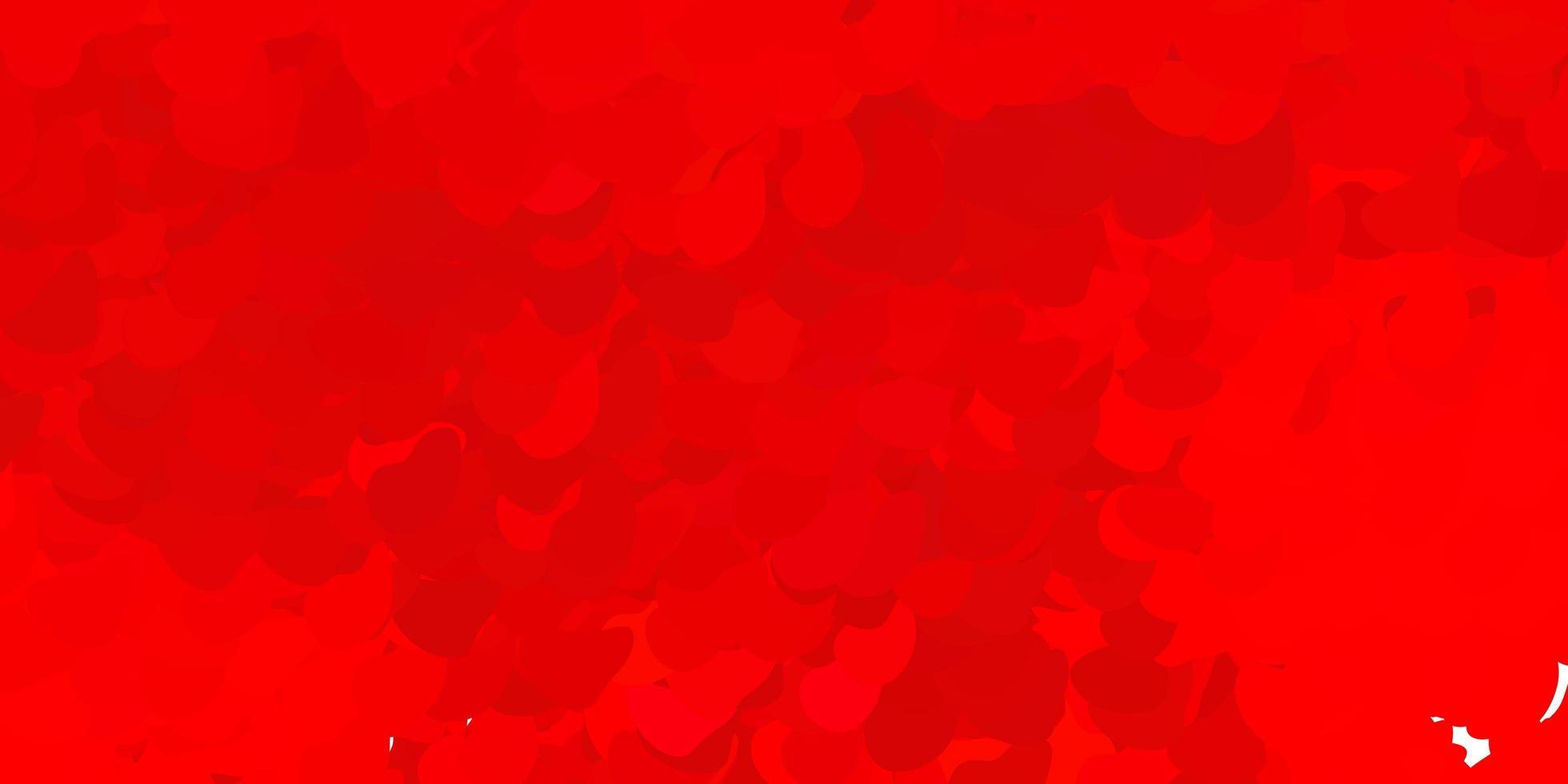 patrón rojo claro con formas abstractas. vector