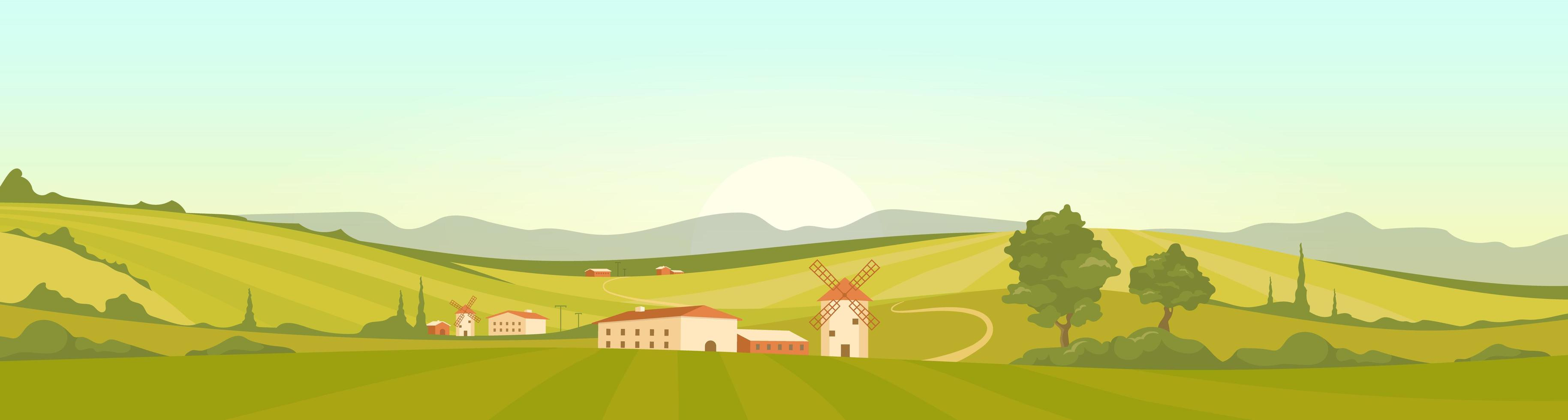 Morning in Tuscany vector