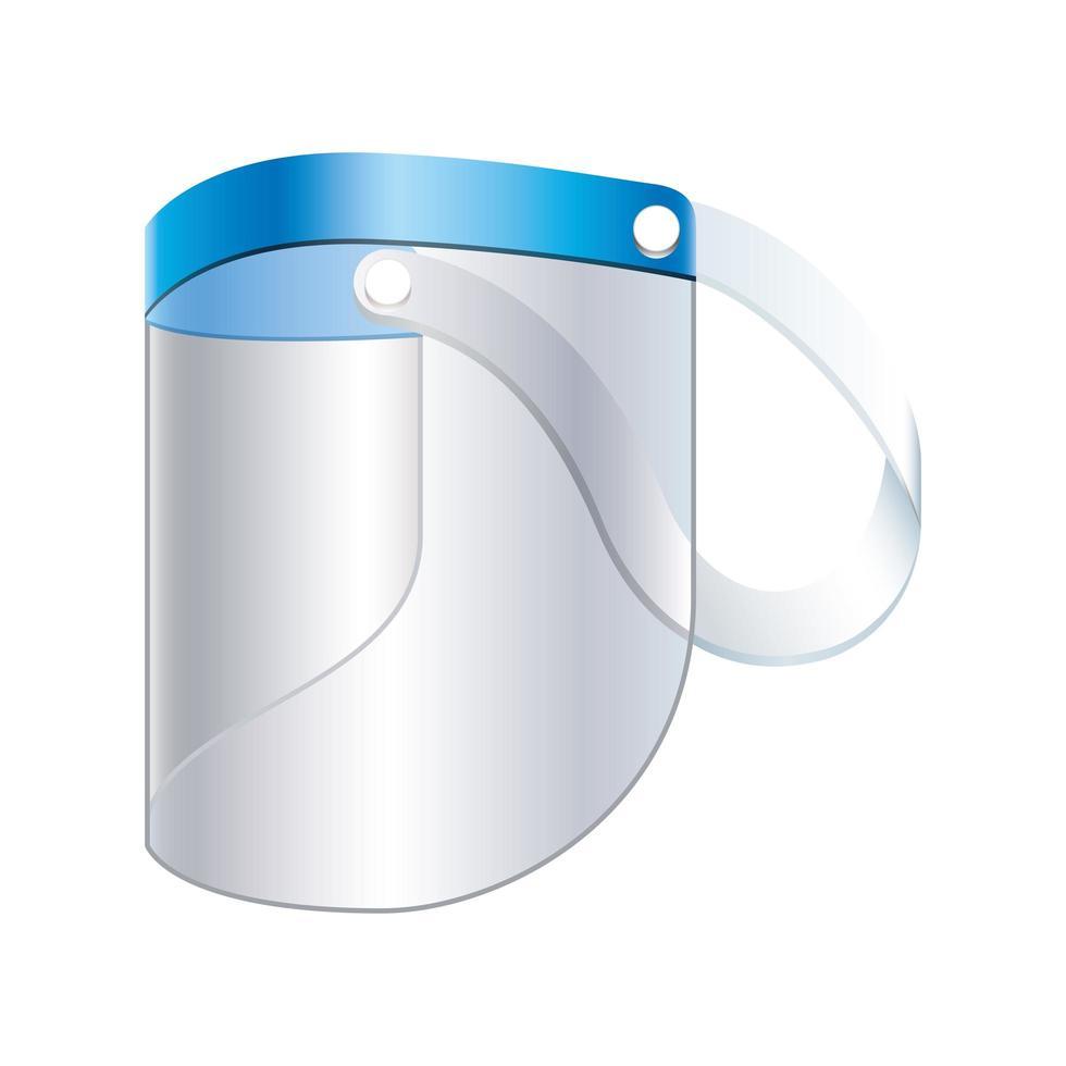 Face shield icon design vector