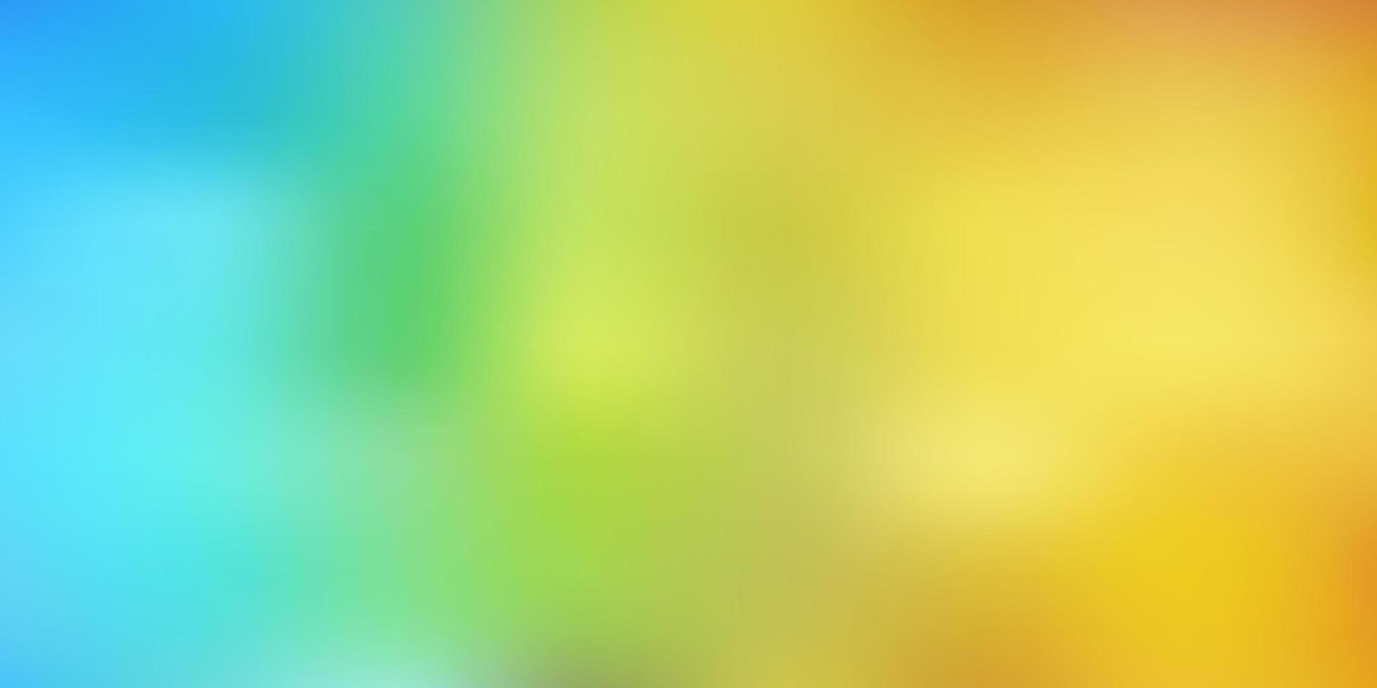 diseño borroso azul claro, amarillo. vector