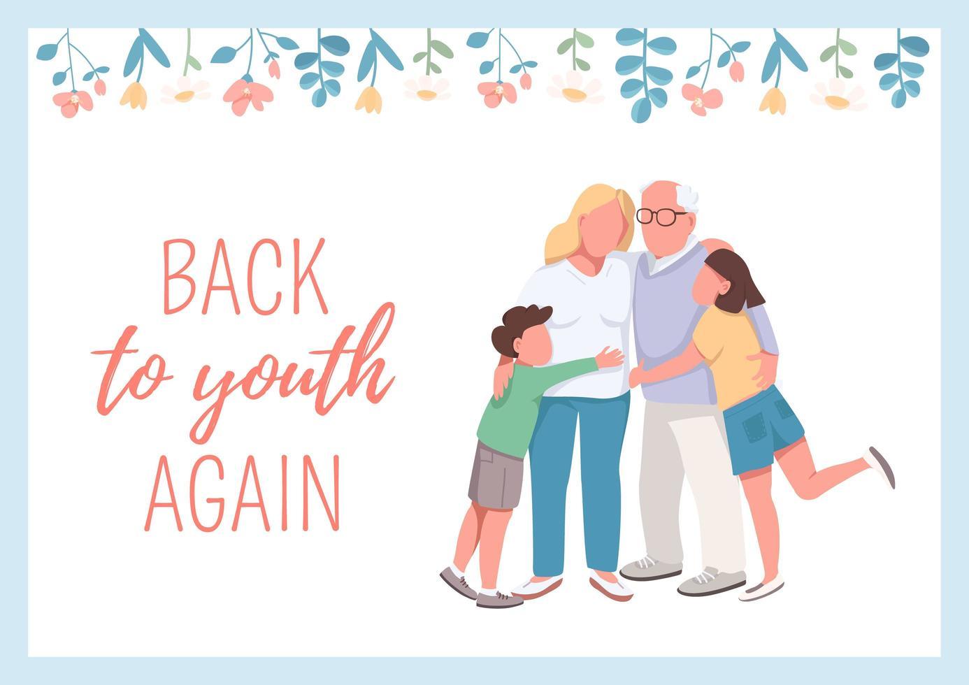 cartel de regreso a la juventud otra vez vector
