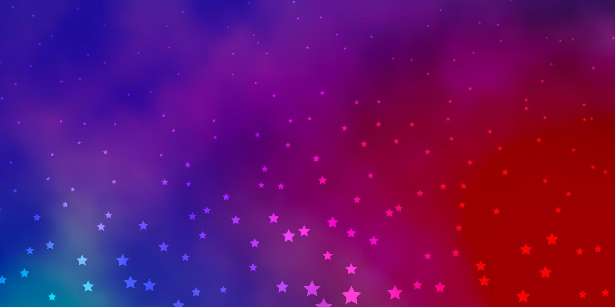 patrón de color rosa y morado con estrellas abstractas. vector