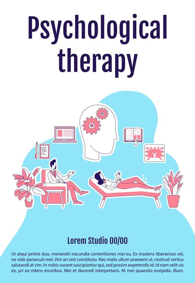 cartel de terapia psicológica vector
