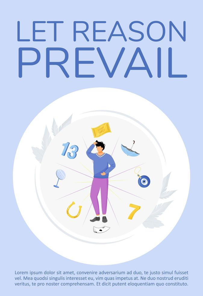Let reason prevail poster vector