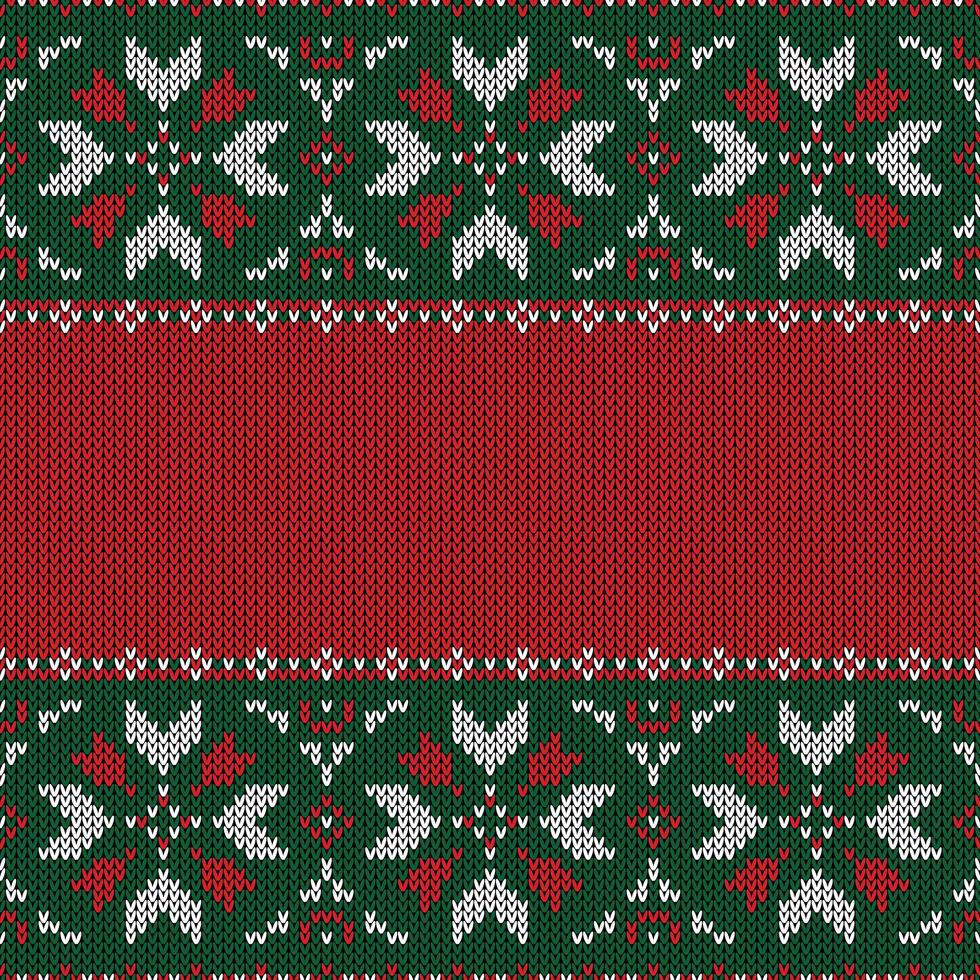 Christmas knitted pattern vector