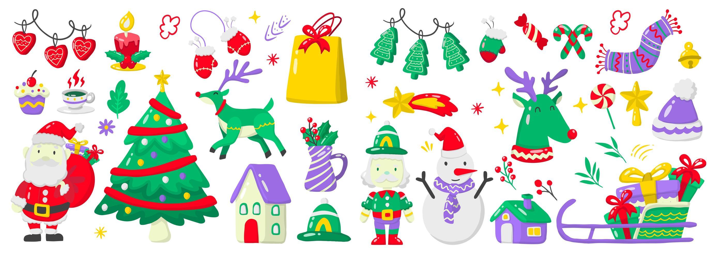 Christmas elements set vector