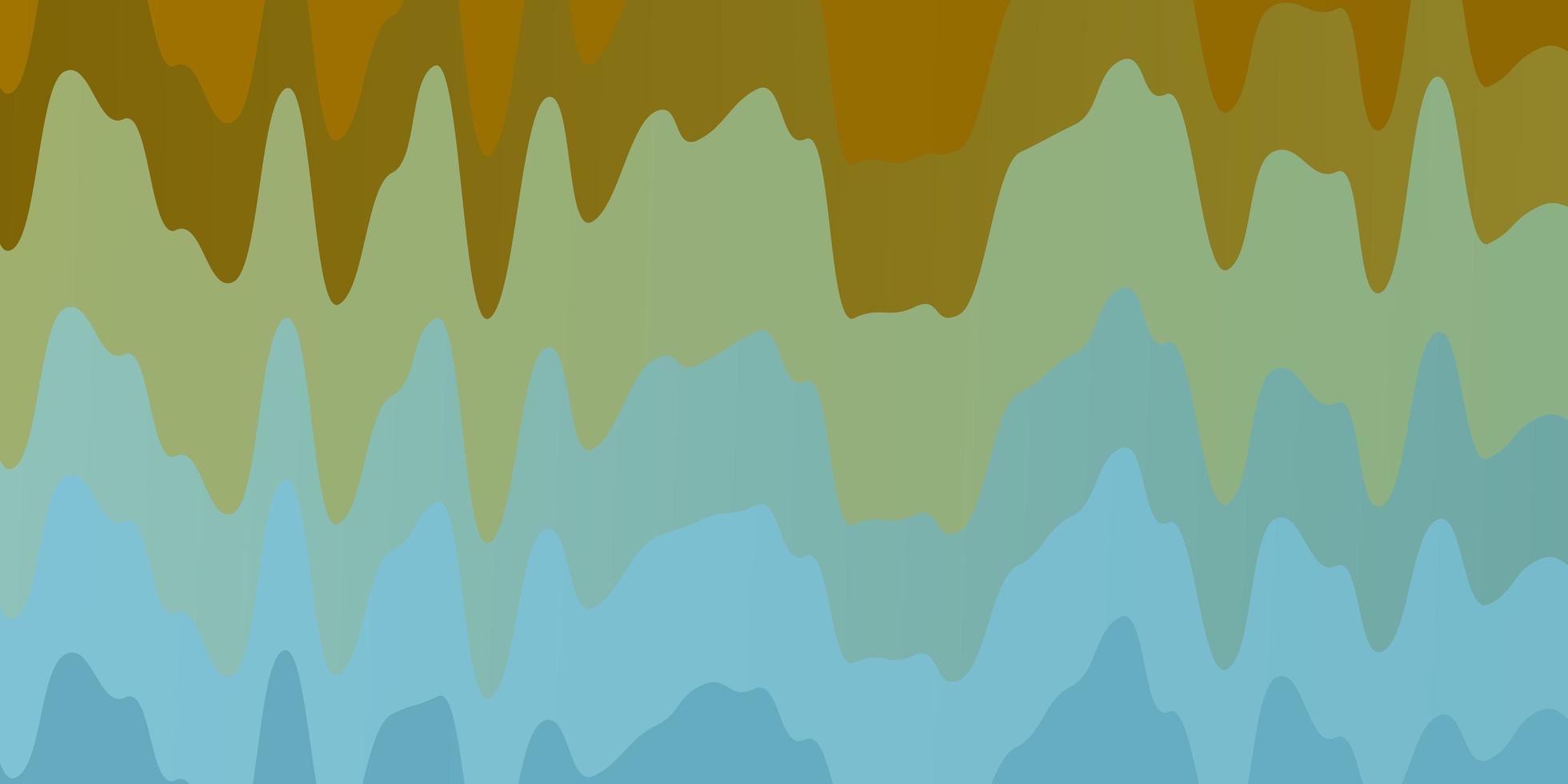 patrón azul claro, amarillo con líneas torcidas. vector