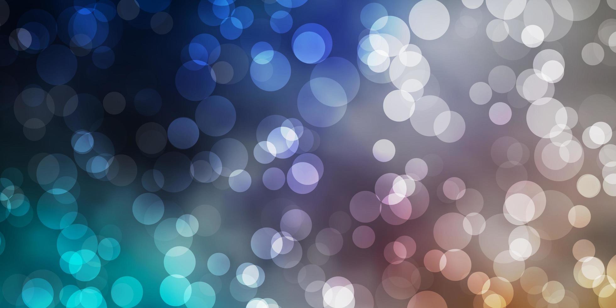 patrón azul claro, amarillo con esferas. vector