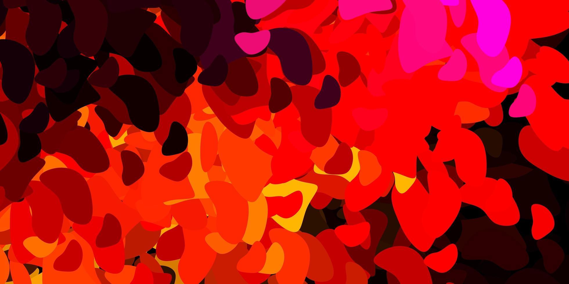 telón de fondo rojo oscuro con formas caóticas. vector
