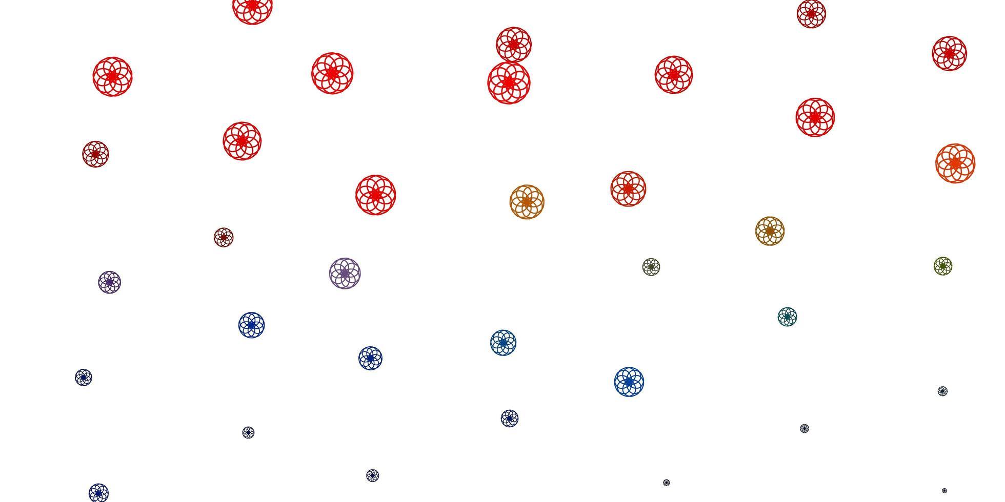 patrón azul claro, rojo con esferas. vector