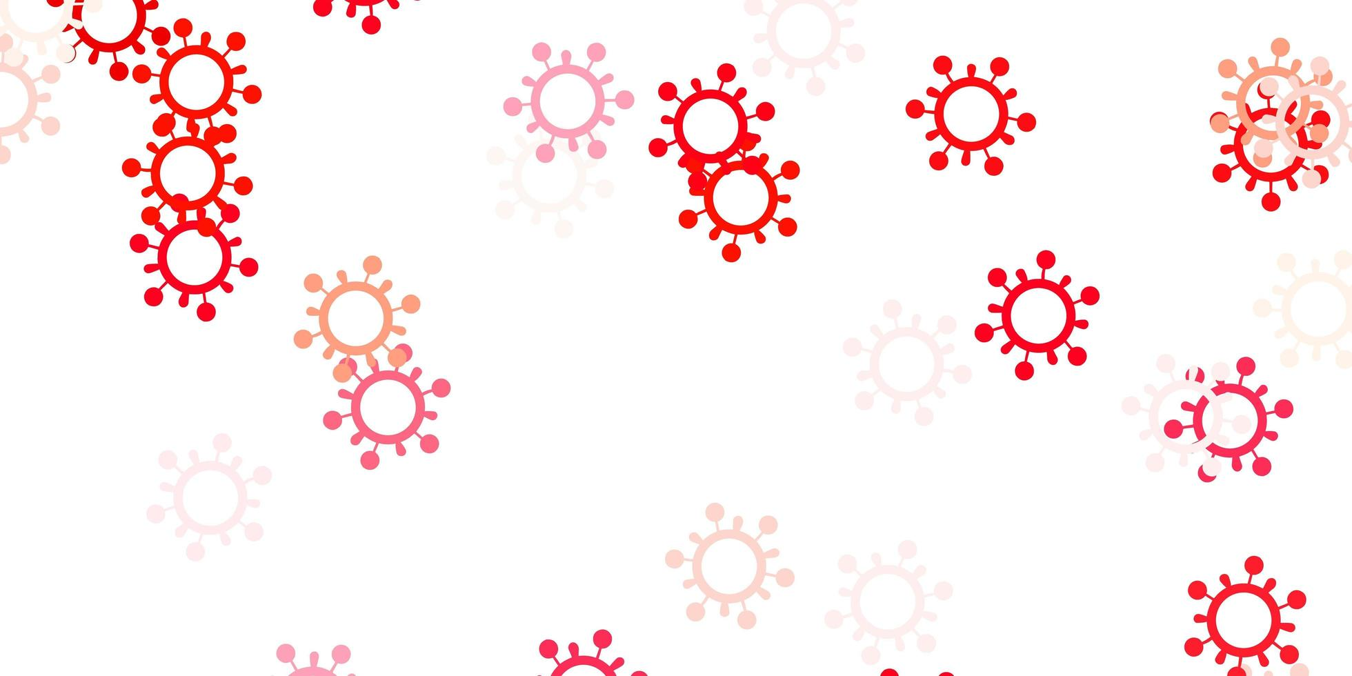 Light red template with flu signs. vector