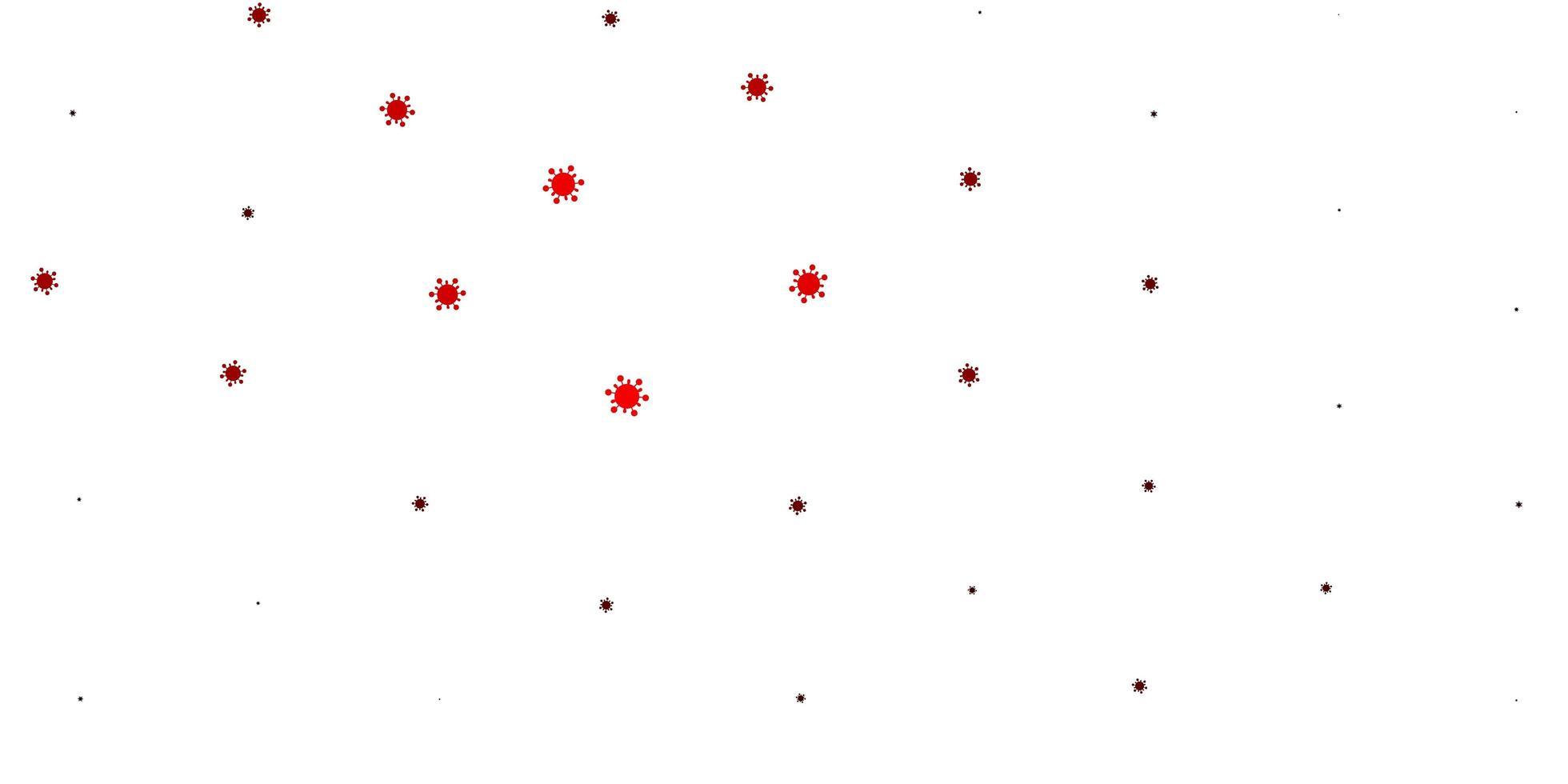 plantilla de color rojo claro con signos de gripe. vector