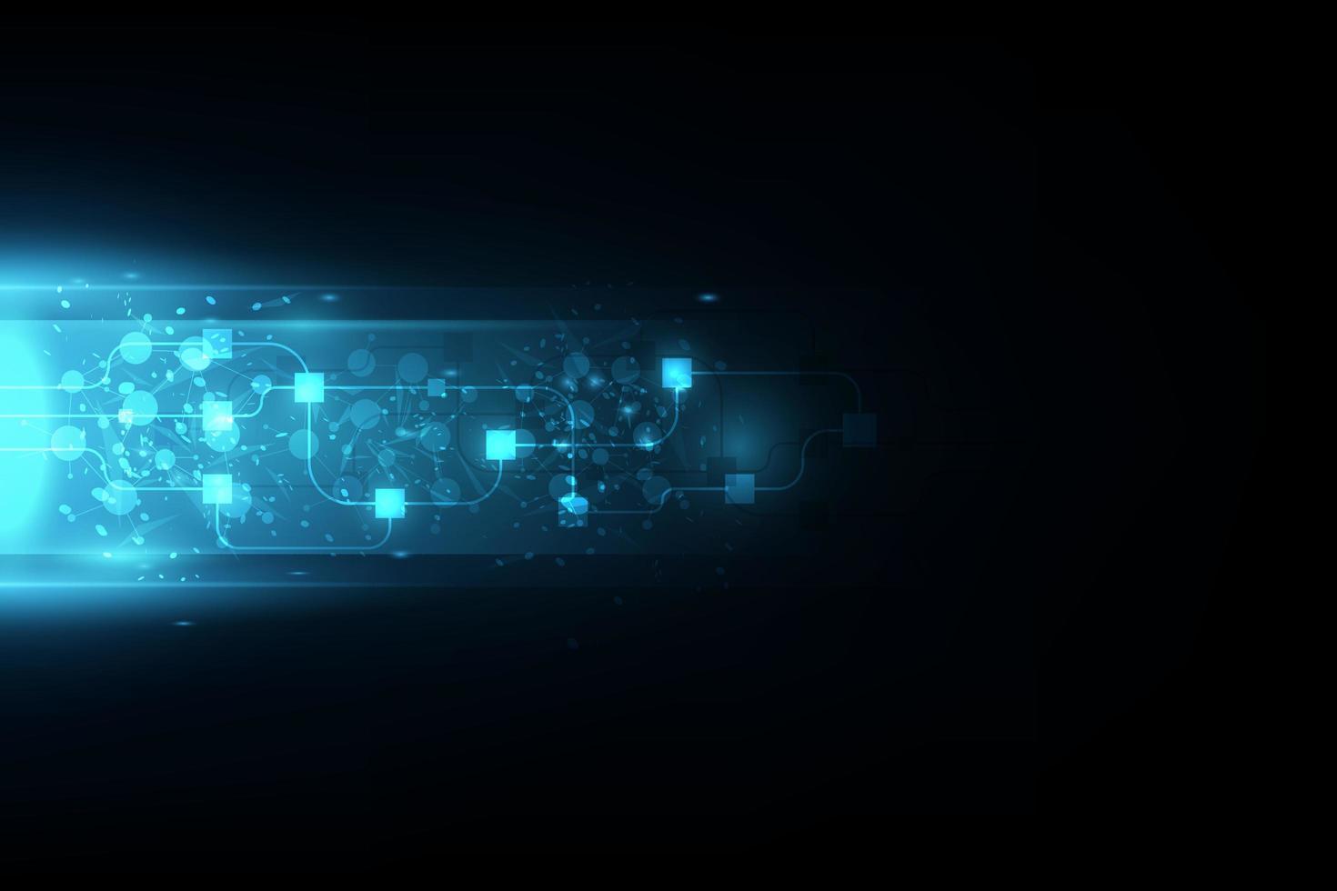 Vector abstracto tecnología futura, fondo de telecomunicaciones eléctricas
