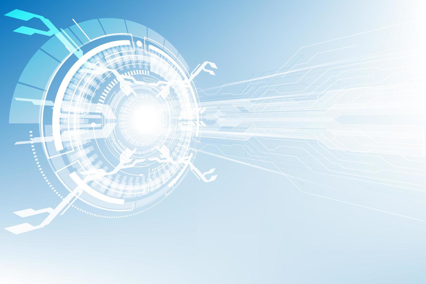 Fondo de tecnología digital futurista abstracto vector