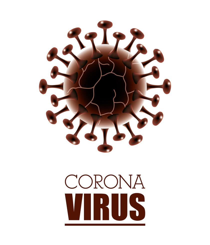 Coronavirus scientific white banner background vector