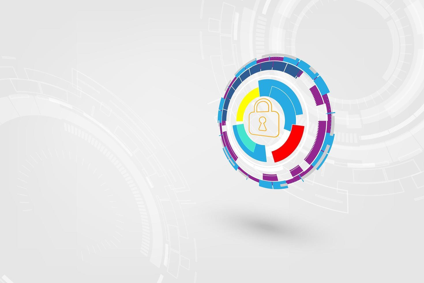 fondo abstracto de seguridad de alta tecnología vector