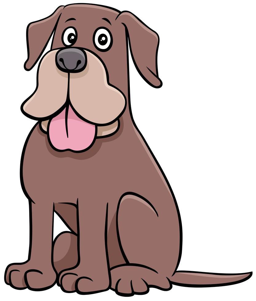 Funny cartoon dog animal character vector