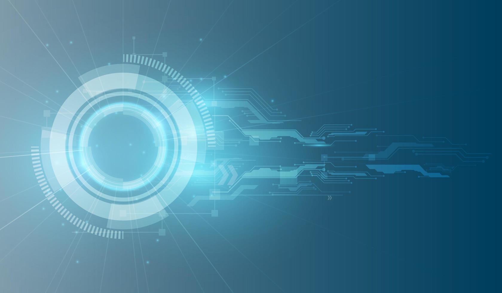 fondo de tecnología de datos abstractos vector