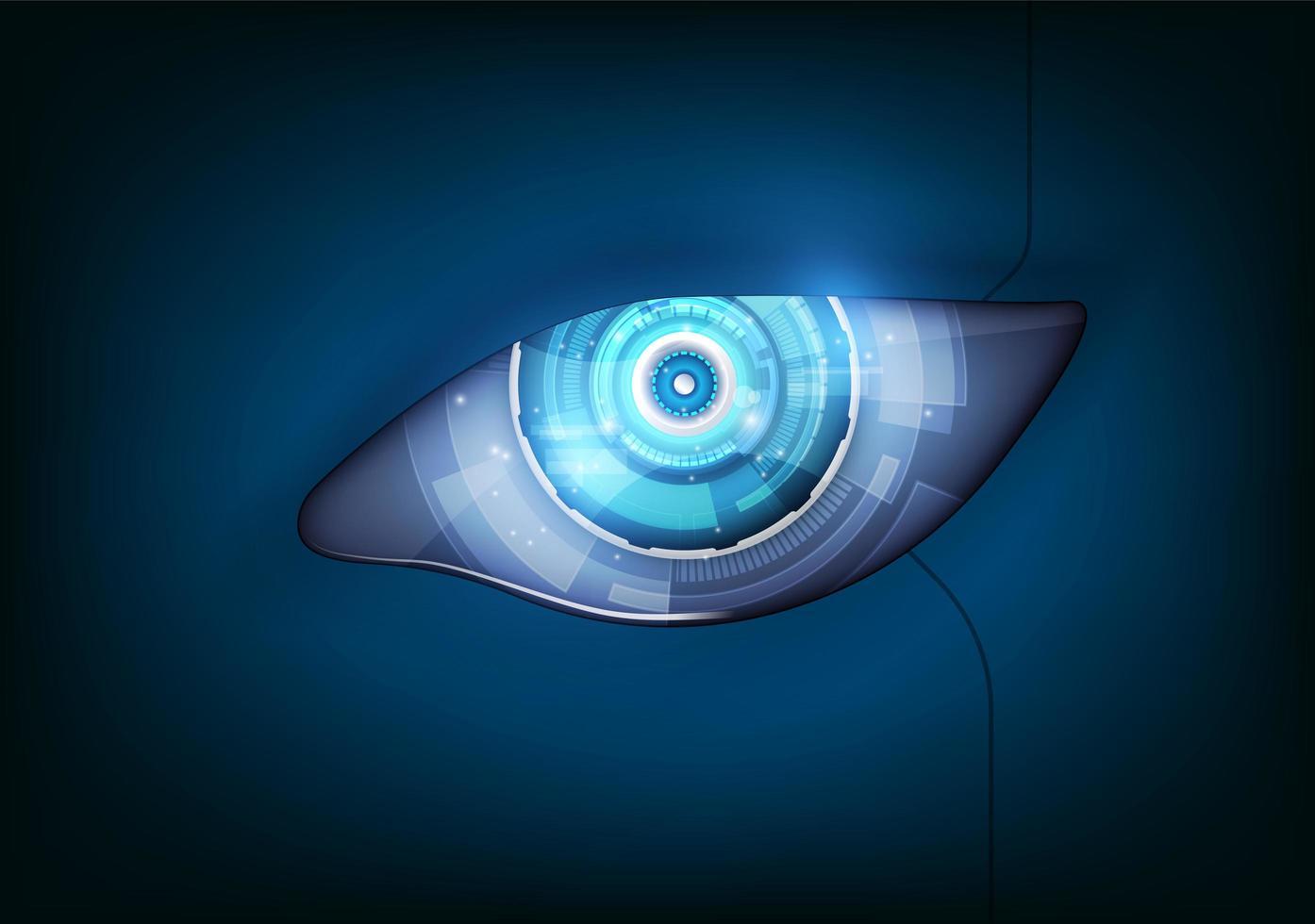 ojo del robot. interfaz de hud futurista, ilustración vectorial vector