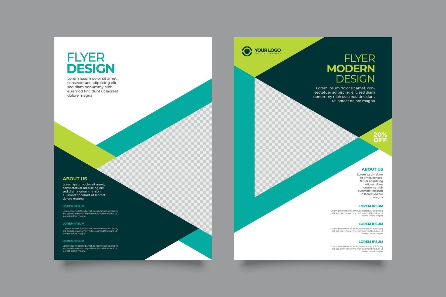 Plantilla de diseño de folleto de propuesta de negocio moderno vector