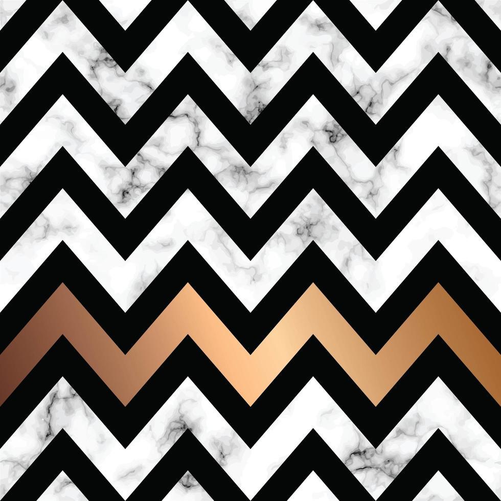 diseño de textura de mármol con formas geométricas doradas vector