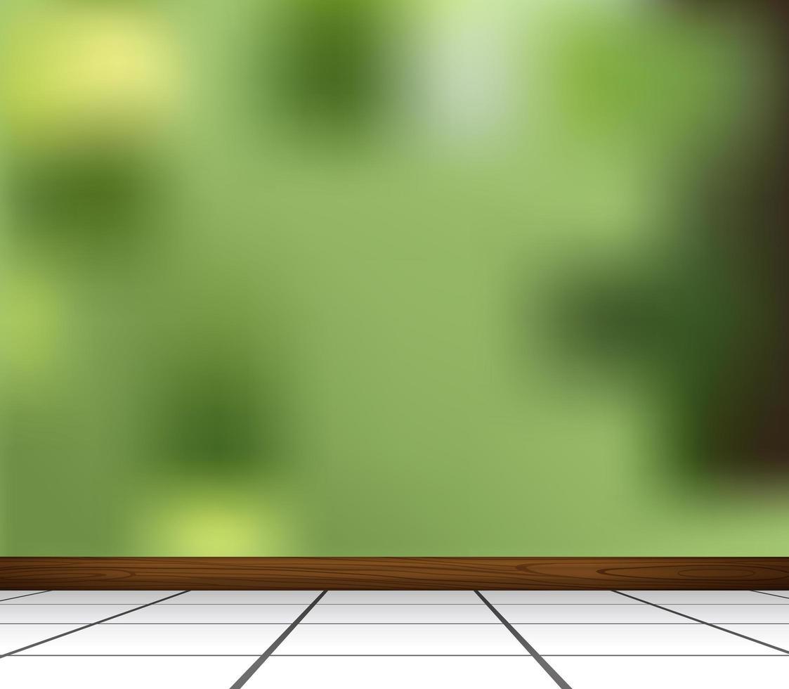 Fondo verde abstracto borroso en blanco vector
