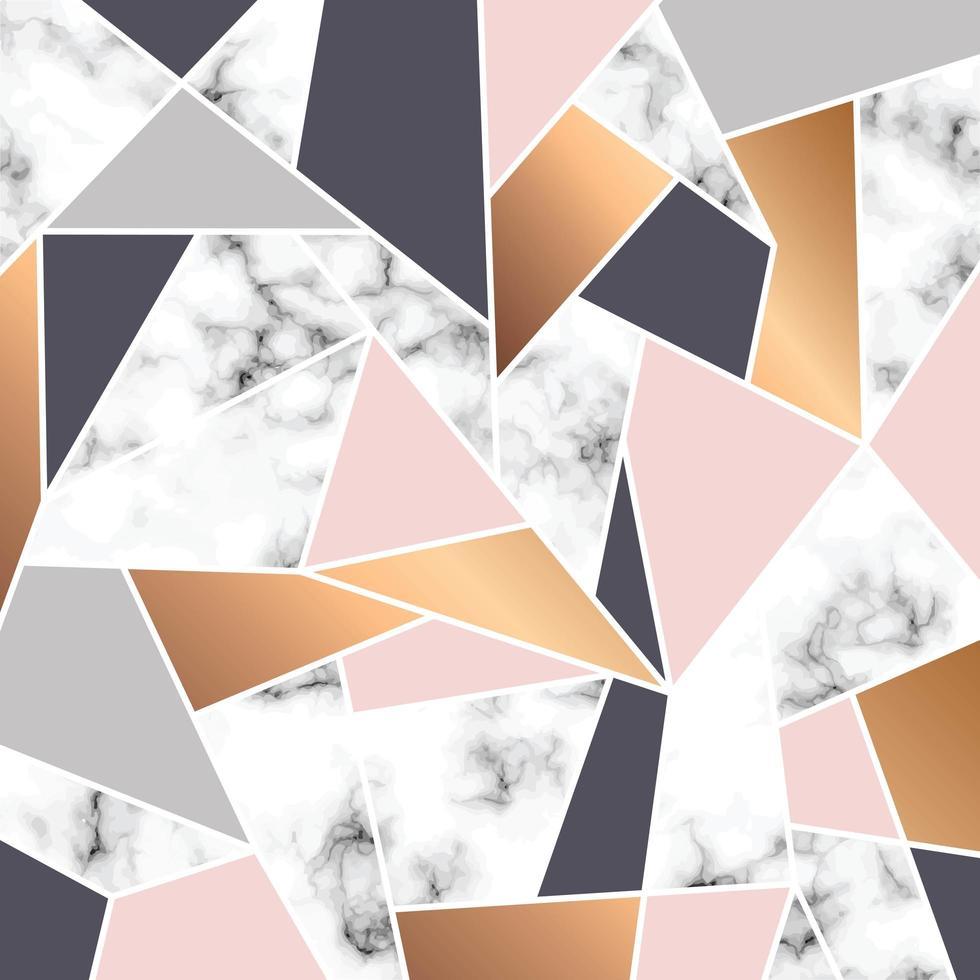 diseño de textura de mármol con líneas geométricas blancas vector